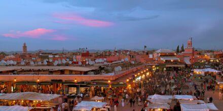 Medinaen i Marrakesh i Marokko
