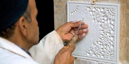 Vakkert keramikkarbeide i Marokko