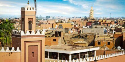Gamlebyen i Marrakech i Marokko