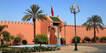 Det kongelige palass i Marrakech i Marokko