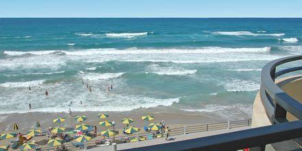Utsikt til stranden fra ett av rommene
