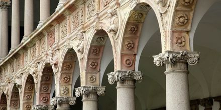 Detaljert arkitektur i Milano