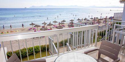 Utsikt fra uteplass på hotellet