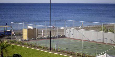 Tennisbanen på hotellet