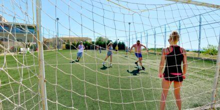 Fotballbanen på hotellet