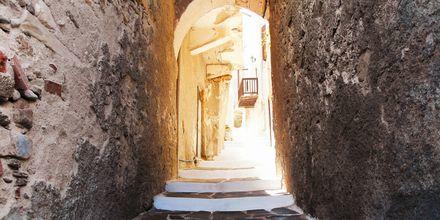 Gate i Kastro på Naxos