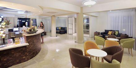 Resepsjonen på hotell Nelia Garden, Ayia Napa, Kypros
