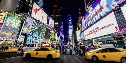 De gule taxiene er New Yorks signatur.