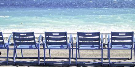 Strekk føttene og ta en hvil på Promenade des Anglais