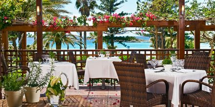Uteservering på Hotell Nissi Beach i Ayia Napa, Kypros.