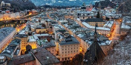 Vinter i Salzburg, Østerrike.