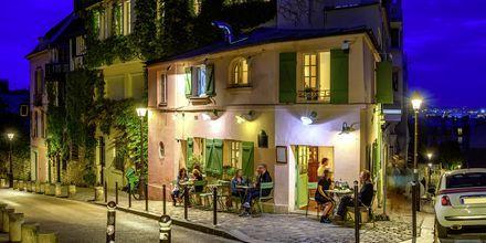 Restaurant i Montmartre, Paris.