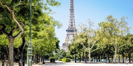 Eiffeltårnet i Paris, byens mest kjente severdighet.