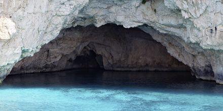 Den blå grotte på Paxos