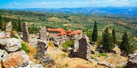 Utsikt fra Mistra i Peloponnes