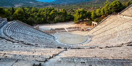 Amfiteateret i Epidaurus i Peloponnes