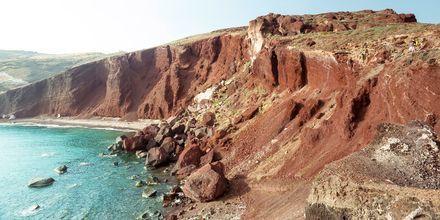 Vulkanrester i Perissa & Perivolos