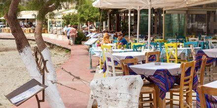 I Plakias er det mange restauranter å velge blant.