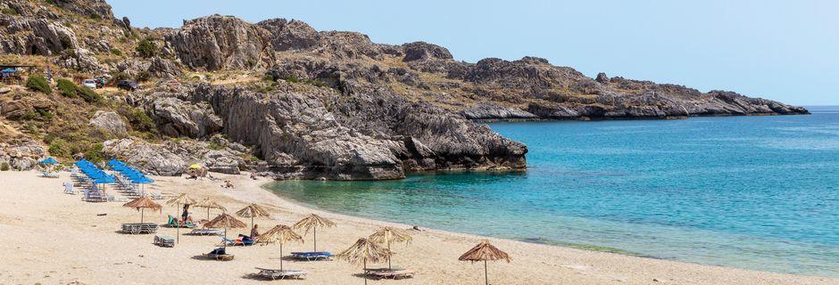 Bad i det herlige klarblåe vannet i Plakias på Kreta!