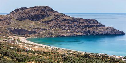 Utsikt over Plakias og det vakre havet.