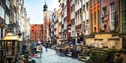 Mariacka, en koselig gate i Gdansk, Polen.