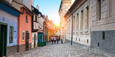 Golden Lane i Hradcâny, Praha.