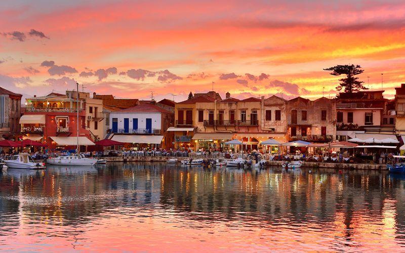 Den venetianske havna i Rethymnon