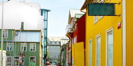 En gate i Reykjavik, Island.