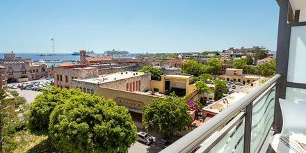 Utsikt fra balkong, hotell Rhodos Horizon City.