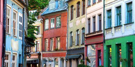 Vakre hus i Rigas gamleby.