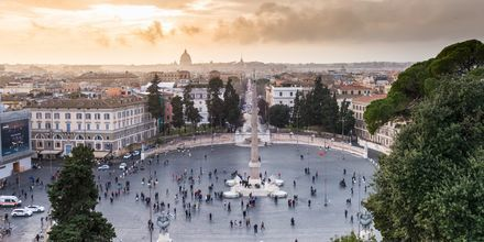 Piazza del Popolo, et populært torg i Roma.