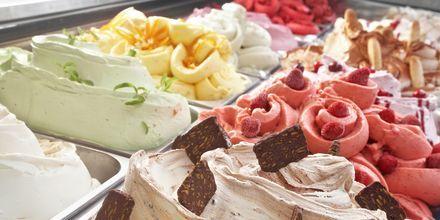 I løpet av ferien i Roma bør du ikke gå glipp av gelatoen her. Gelato = iskrem