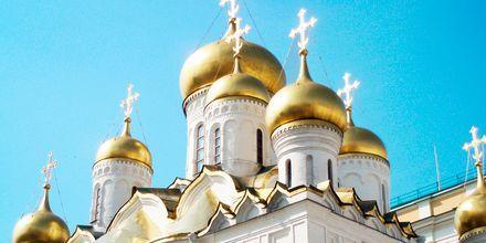 En av de mange vakre kirkene i Russland