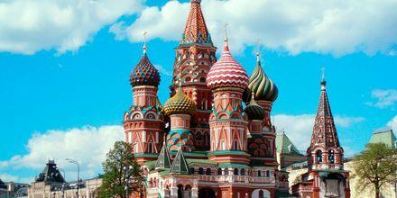 Vasilijkatedralen i Kreml i Moskva