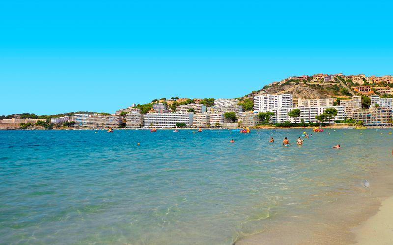 Fra stranden i Santa Ponsa på Mallorca
