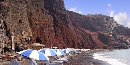 Red Beach på Santorini