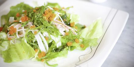 Balinesisk sjøgress salat