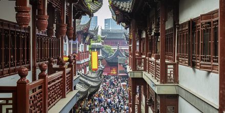 Markedet Yuyuan Market i Shanghais eldre bydeler, ved City God Temple.