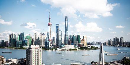 Shanghai er kjent for sine mange skyskrapere.
