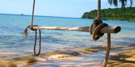 Avslappet atmosfære på stranden
