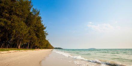 Avslapning på stranden i Sihanoukville