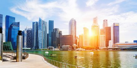 Singapore er kjent for sine skyskrapere som stiger opp fra havet.