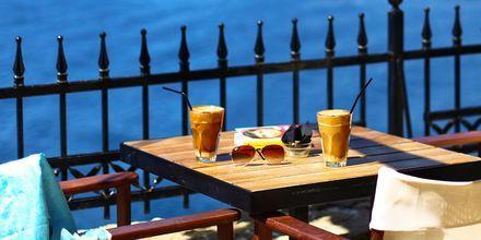 Kafé i Skiathos by.