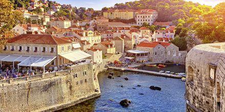 Gamlebyen i Dubrovnik har flere bygninger i gotisk stil fra 1200-tallet