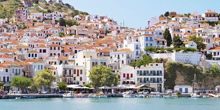 Den gamle havna på Skopelos