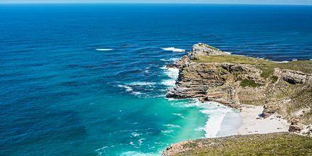 Sør-Afrika – Cape Point, hvor Det indiske hav møter Atlanterhavet
