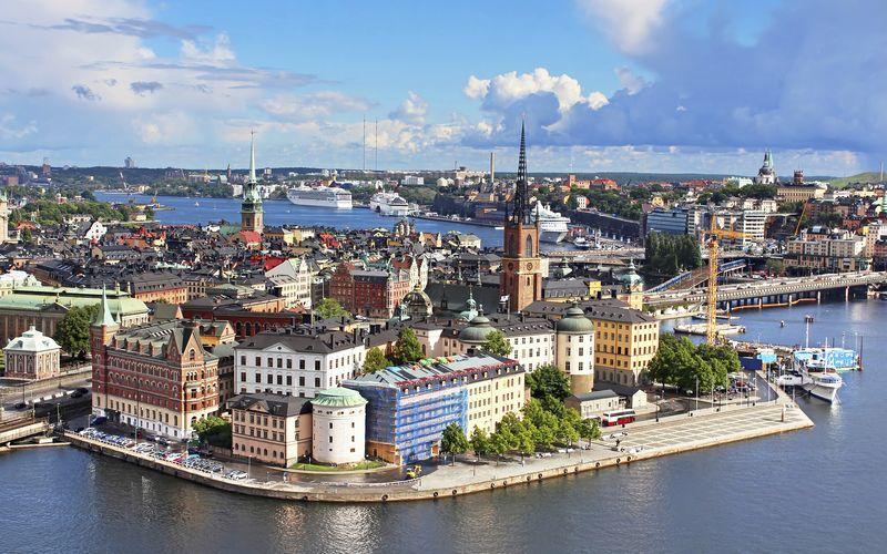 Stockholm ligger på flere øyer