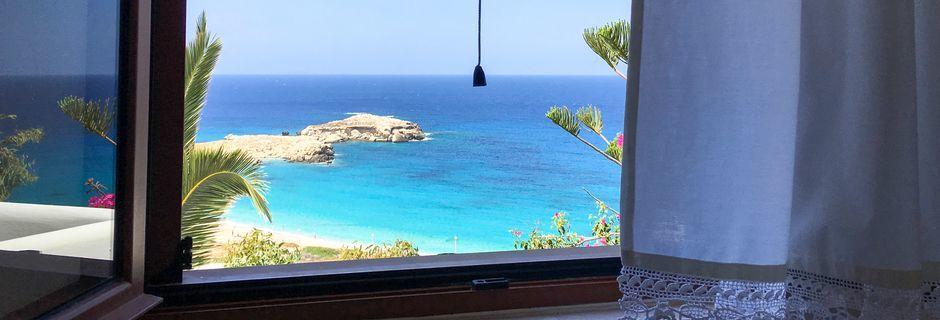 Utsikten fra hotellet