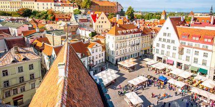 Marked i gamlebyen, Tallinn.
