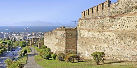 Ruin etter det bysantinske slottet i Thessaloniki, Hellas